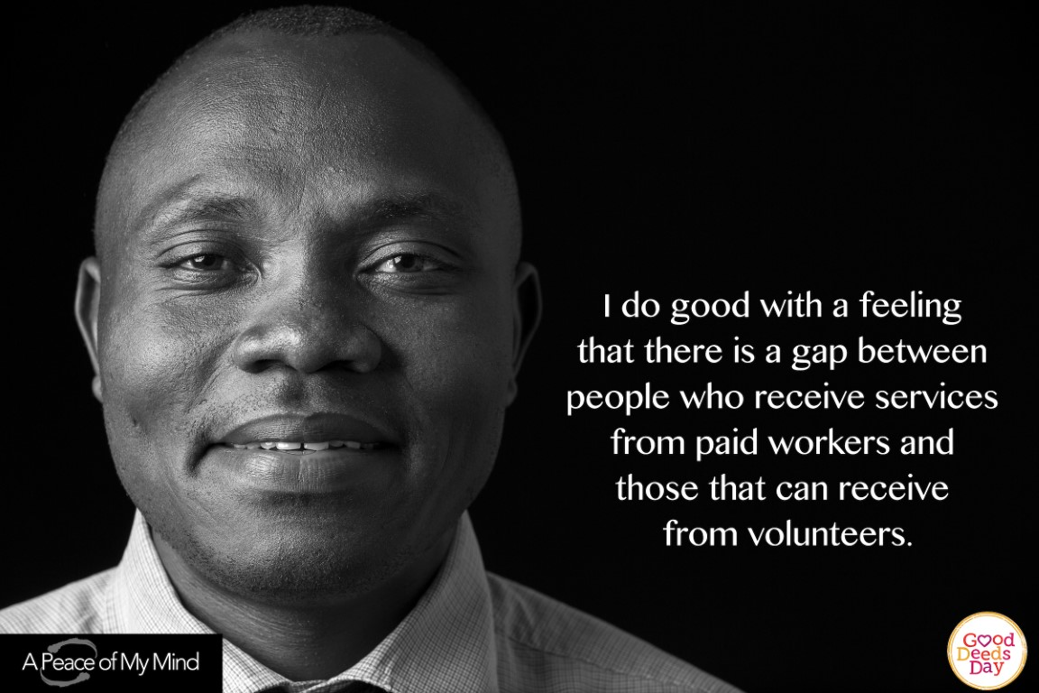 I do good with a feeling that there is a gap between people who receive services from paid workers and those that can receive from volunteers.