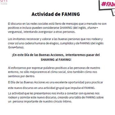 FAMING: ACTIVIDAD 14