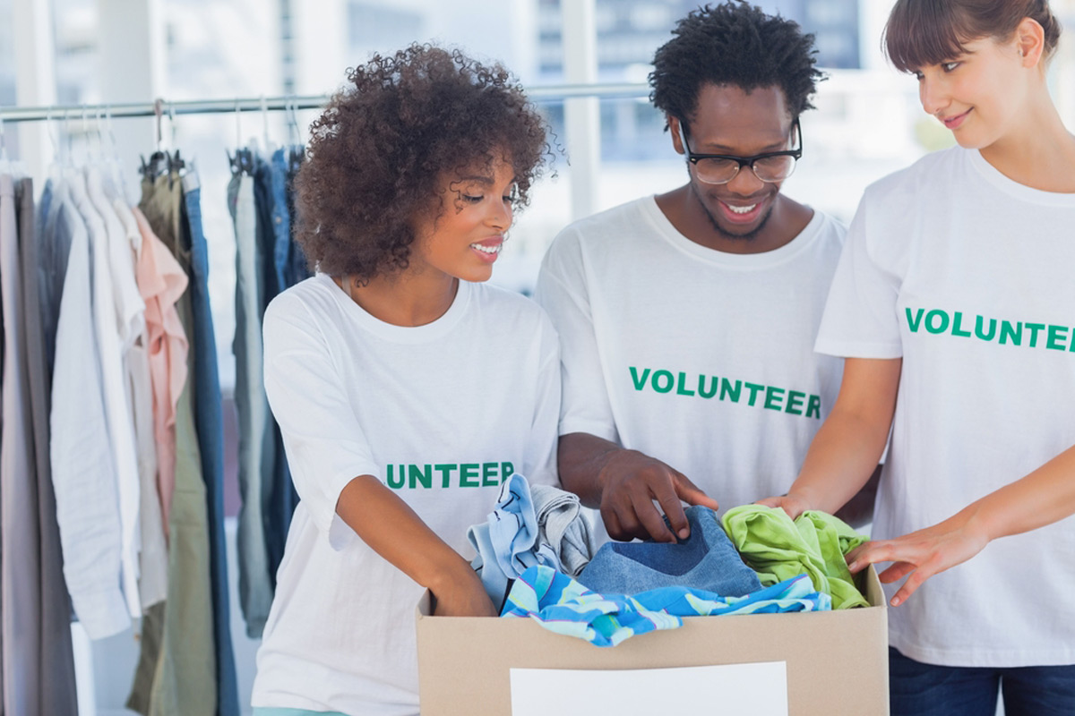 Donating clothes is the easiest way to spread good with your spring cleaning (Shutterstock)
