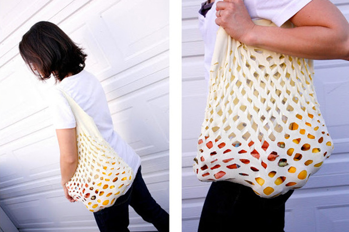 The Green Easy Knit Produce Bag (Delia Creates)