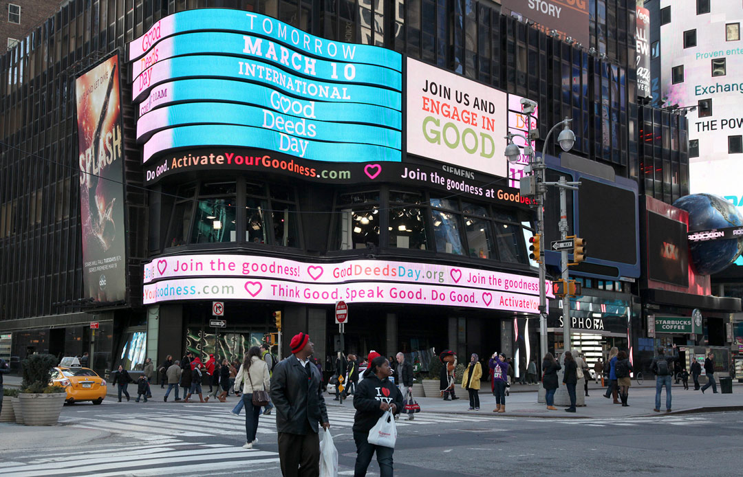 Times Square kicks off Good Deeds Day
