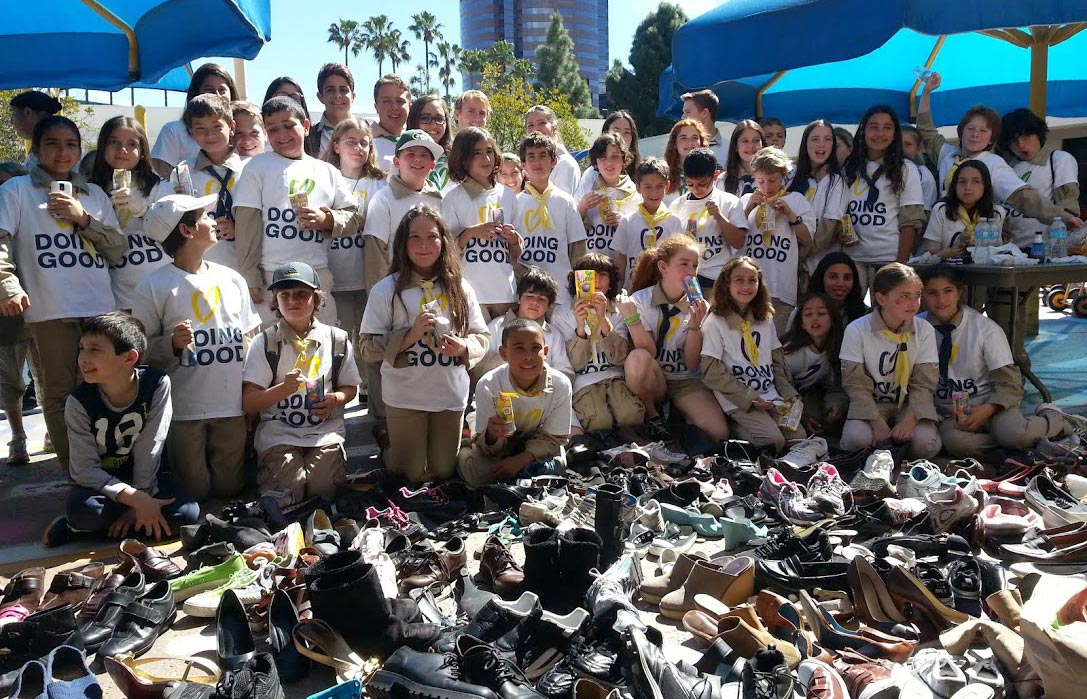 Kids donated 2,500 pairs of shoes
