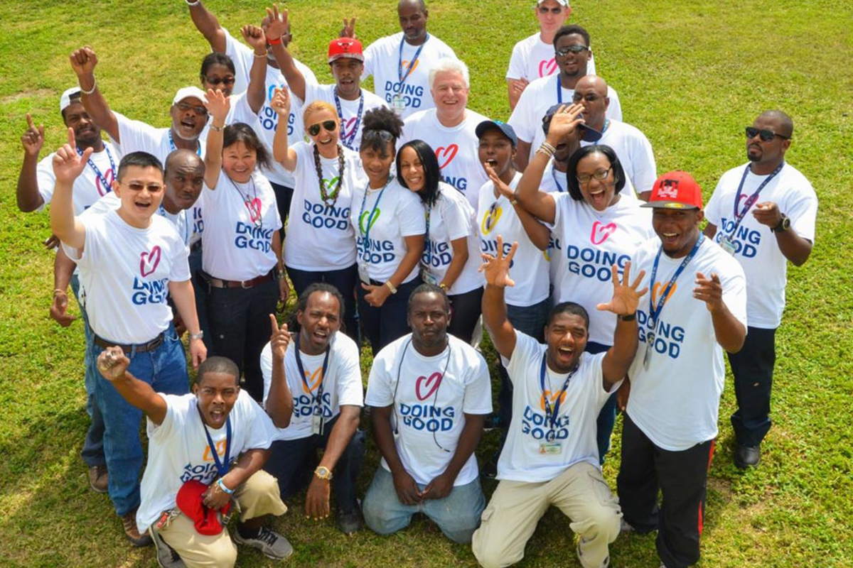 In Nassau, Bahamas, volunteers came together to repair a children