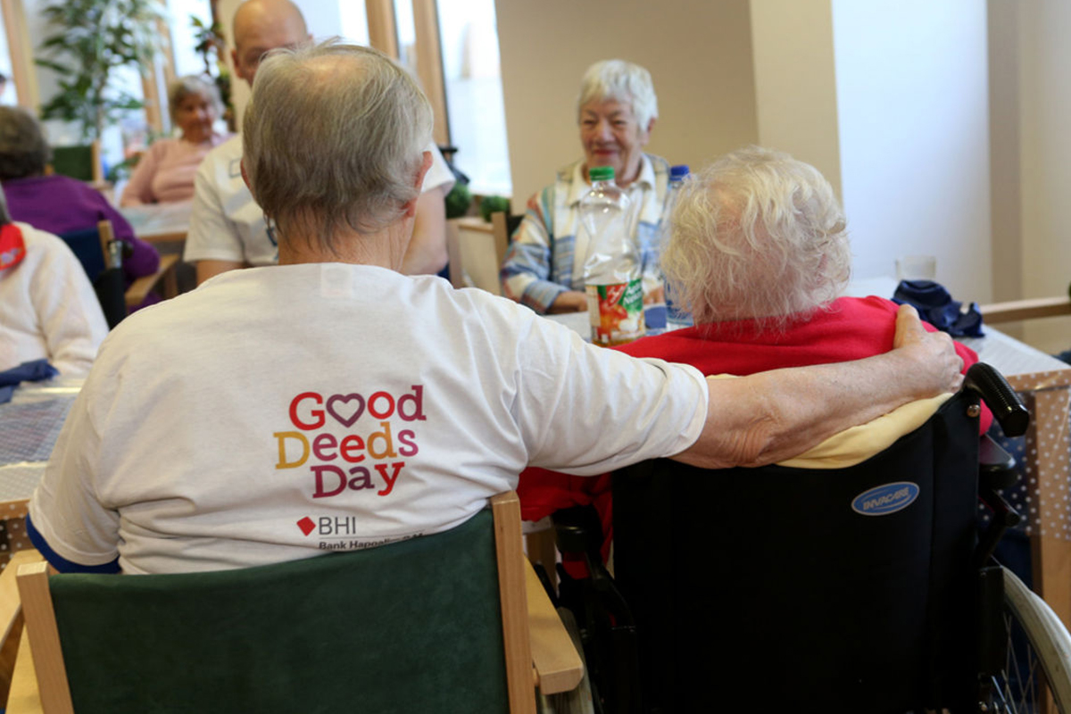 Your project could be as simple as gathering volunteers to visit a nursing home