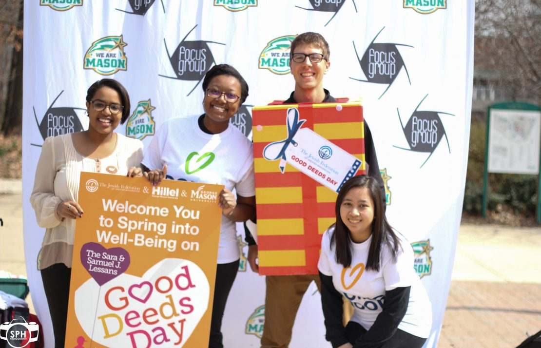 Students promoting  Good Deeds Day