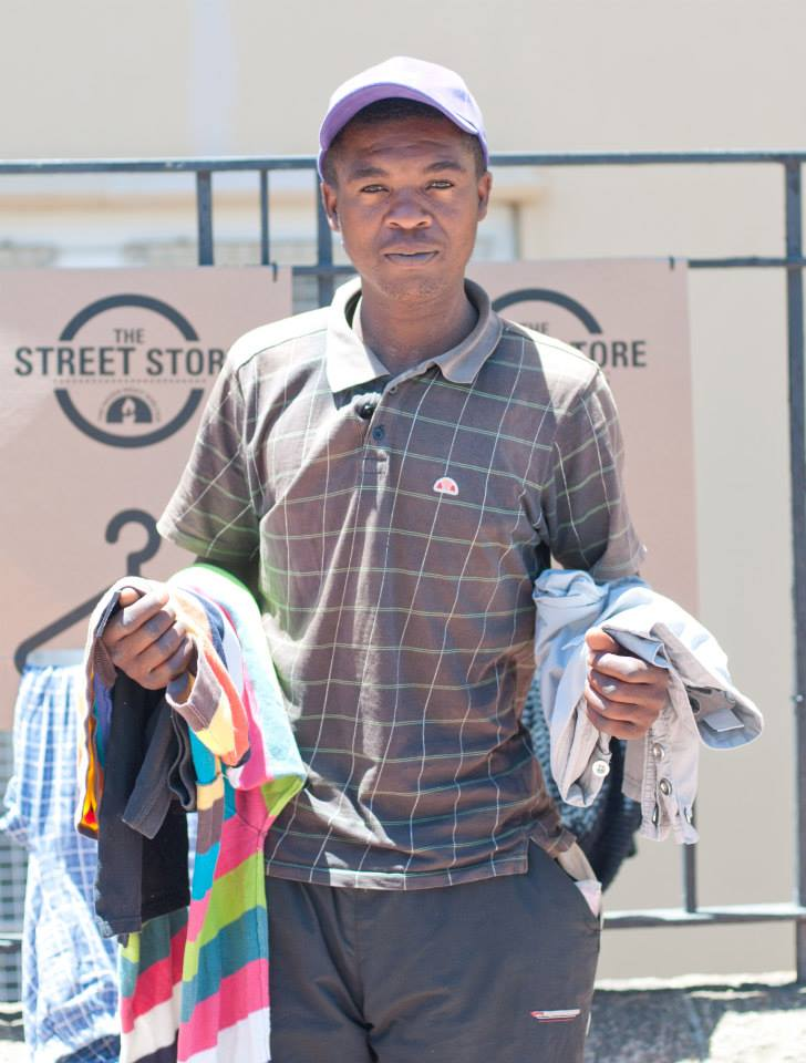 This man was able to shop the Street Store and get a new and much needed wardrobe.
