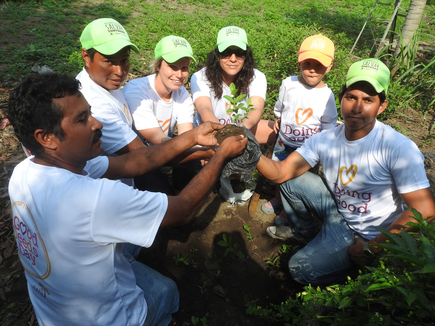 The Yepez Foundation builds bonds and plants trees for a local community garden.