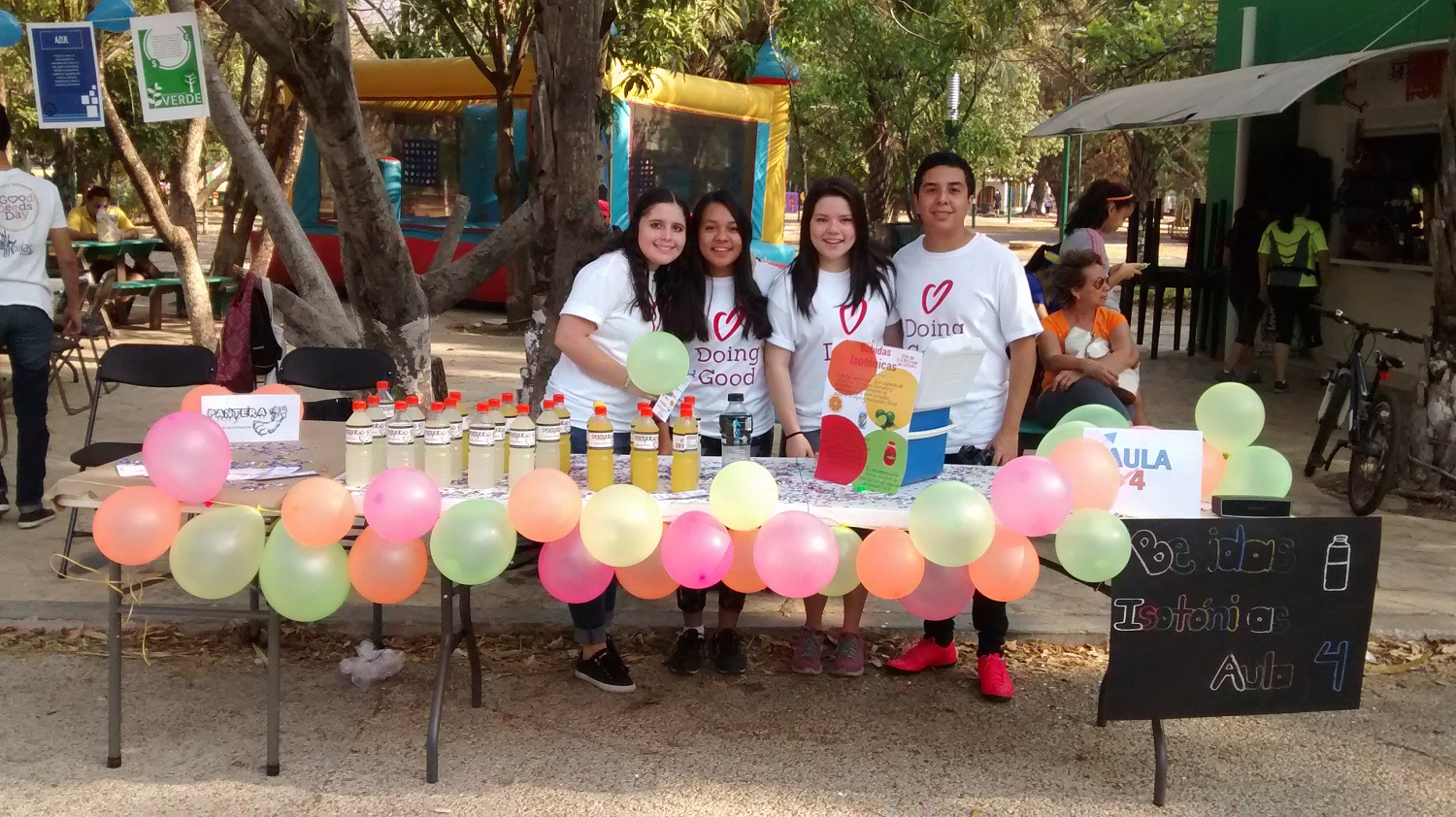 Students give away goodness at Colegie La Paz Mexico.