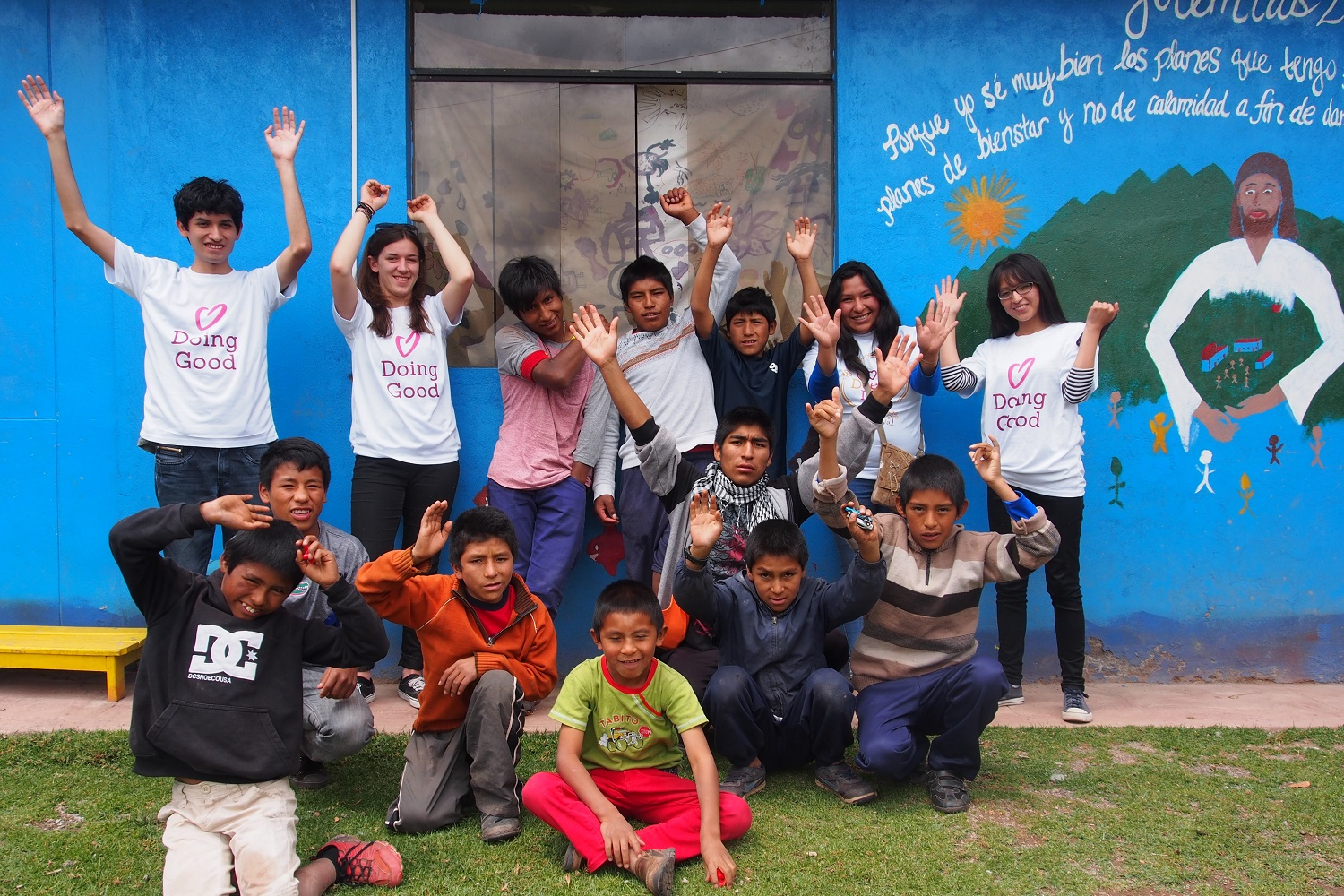 Latin American Foundation for the Future in Peru feeling fulfilled after a Good Deeds Day.