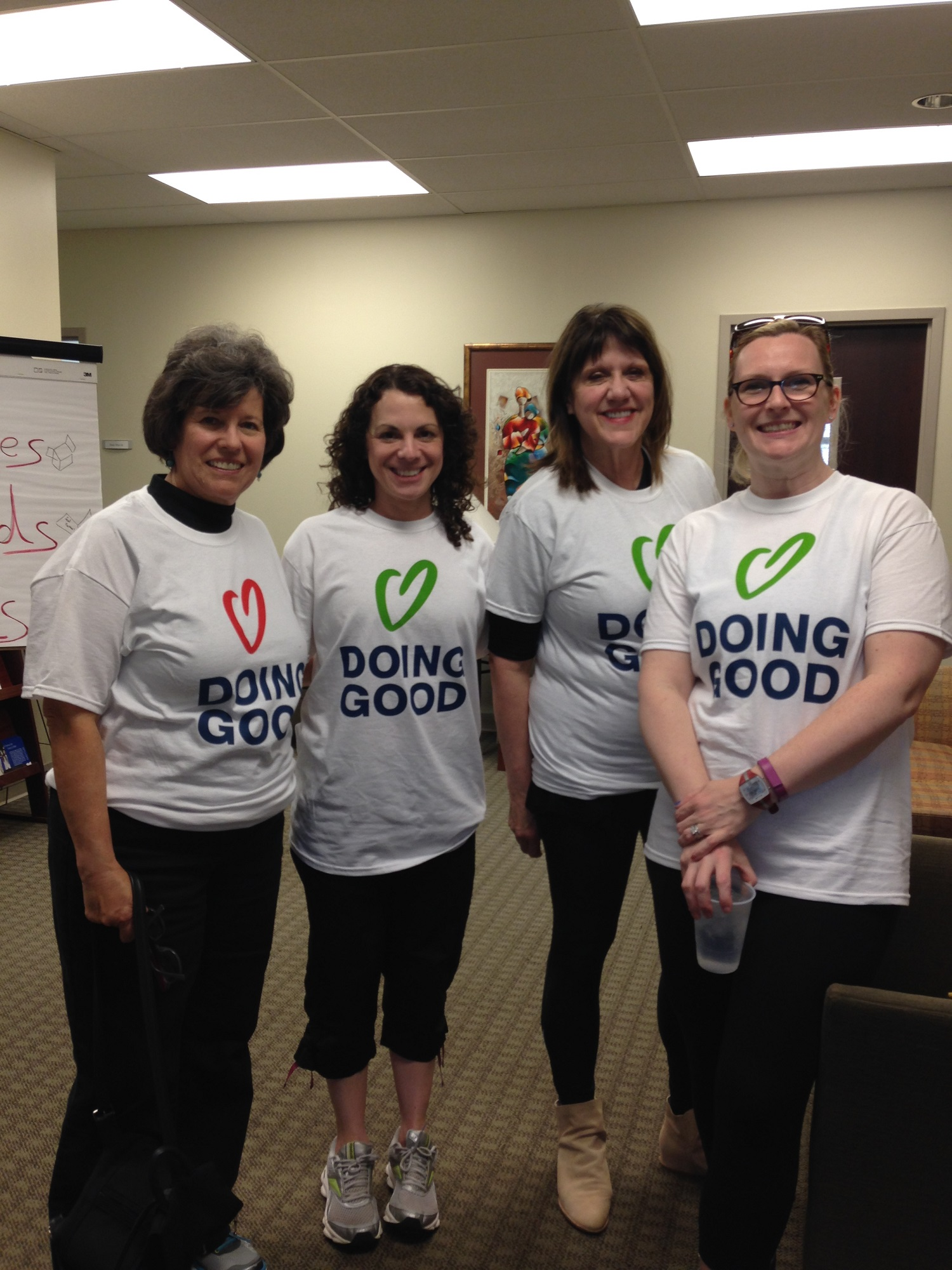 Women of the Jewish Federation of Chattanooga prepare for doing good with their office.