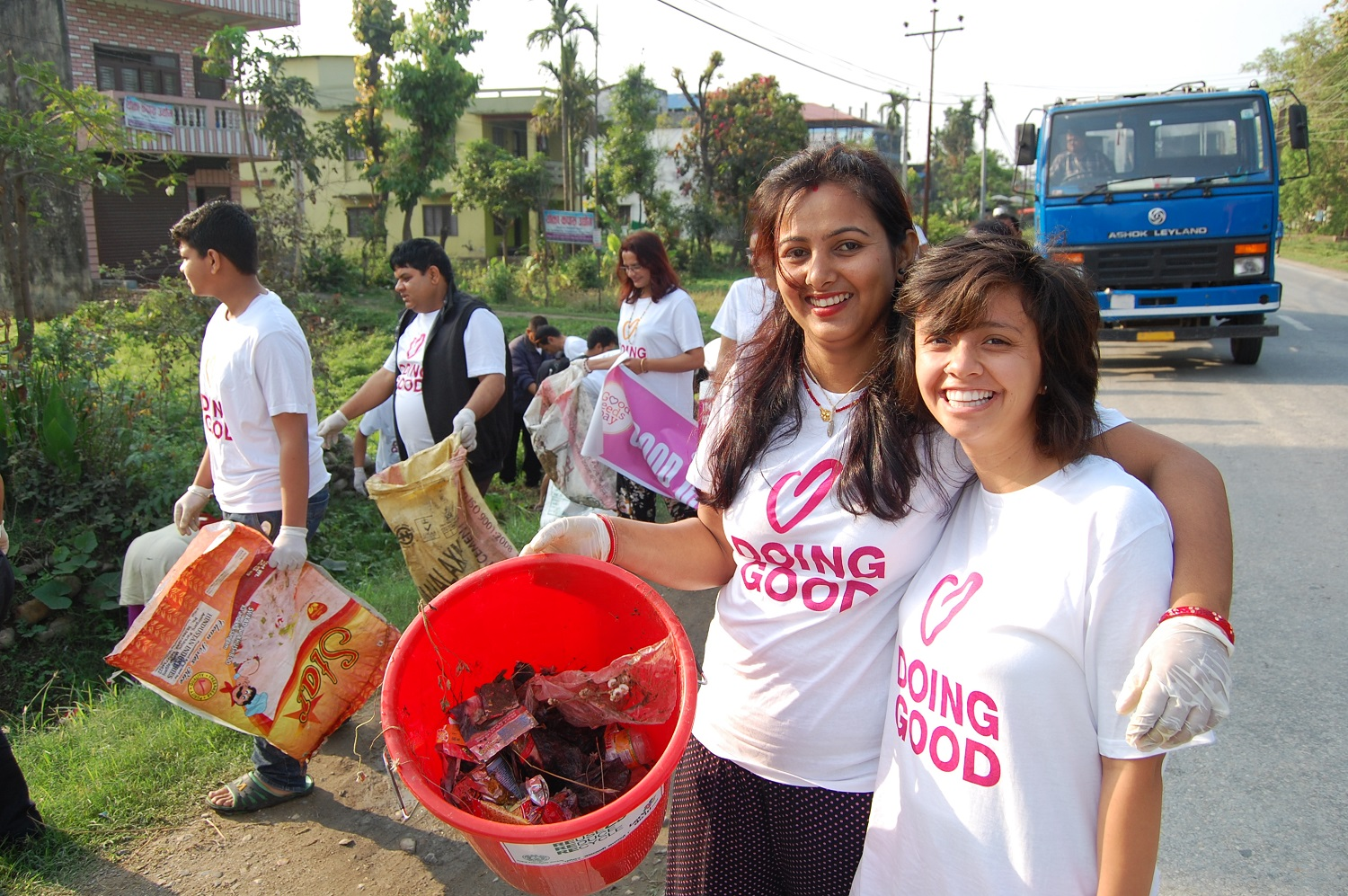 The Clean Up Project on Good Deeds Day 2017.