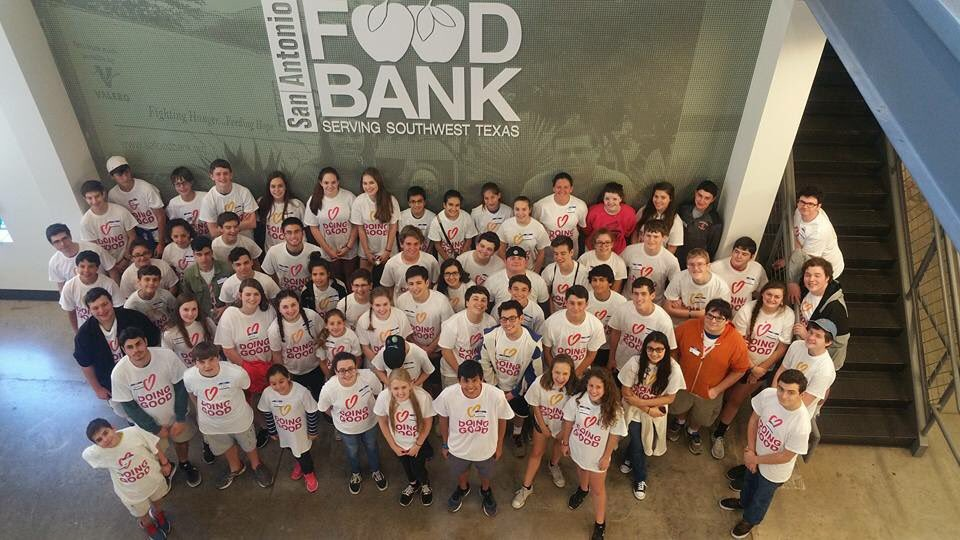 Dozens of teens volunteer at the San Antonio Food Bank.