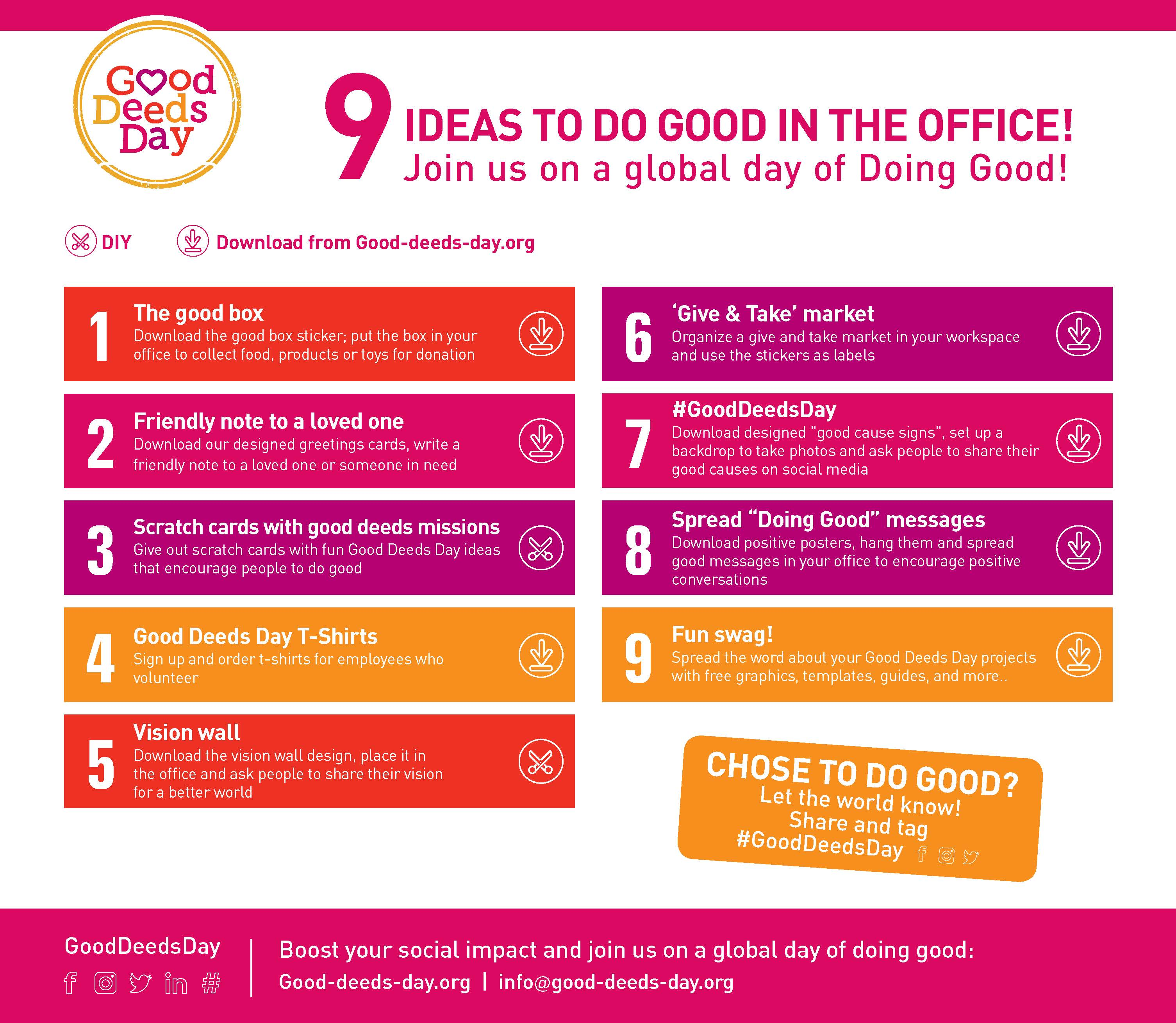 9 EASY DOING GOOD IDEAS FOR YOUR OFFICE - Good Deeds Day