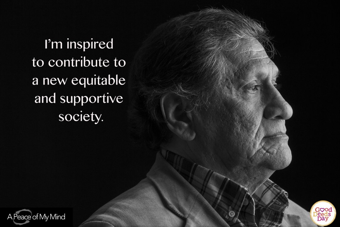 I'm inspired to contribute to a new equitable and supportive society.