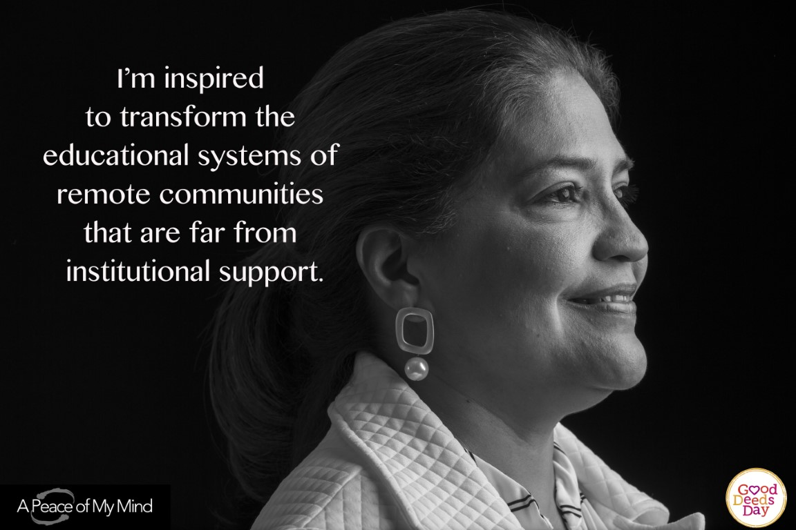 I'm inspired to transform the educational system of remote communities that are far from institutional support.