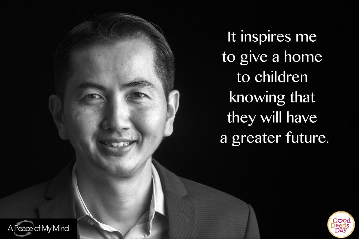 It inspired me to give a home to children knowing that they will have a greater future.