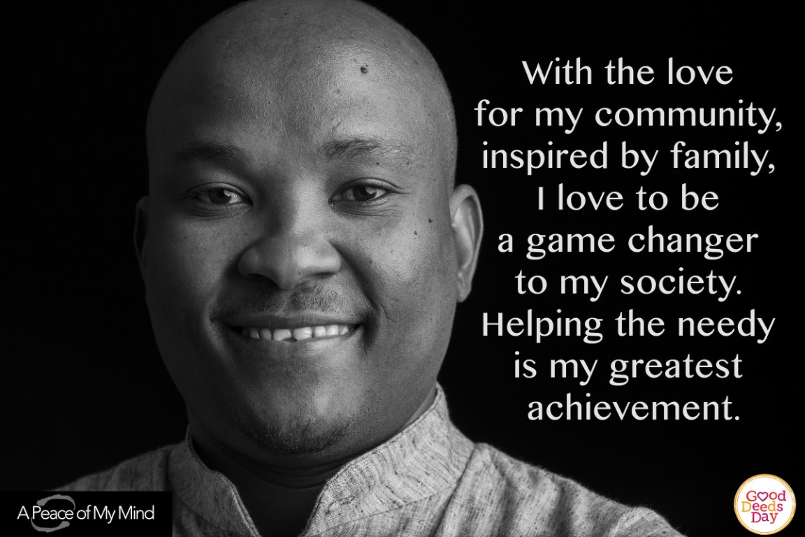With the love of my community, inspired by my family, I love to be a game changer to my society. Helping the needy is my greatest achievement.