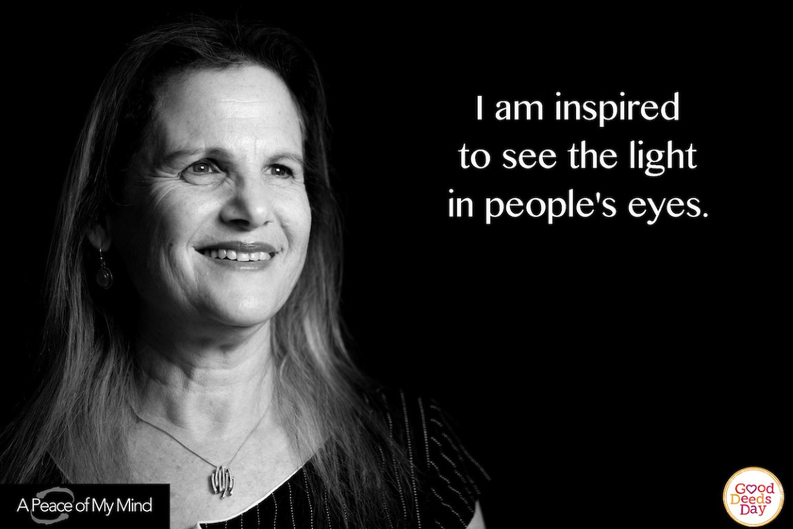 I am inspired to see the light in people's eyes.